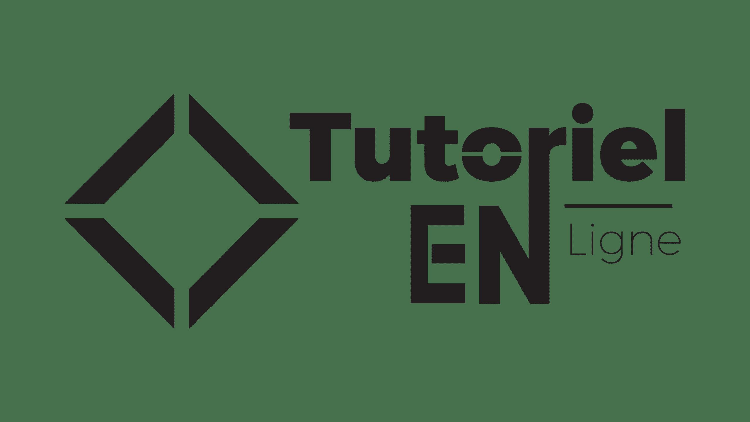 logo noir tutoriel en ligne