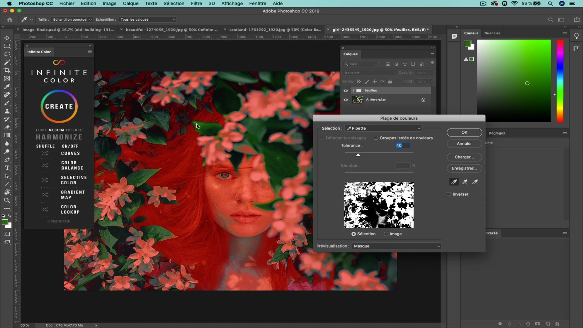 Infinite color panel pour Photoshop