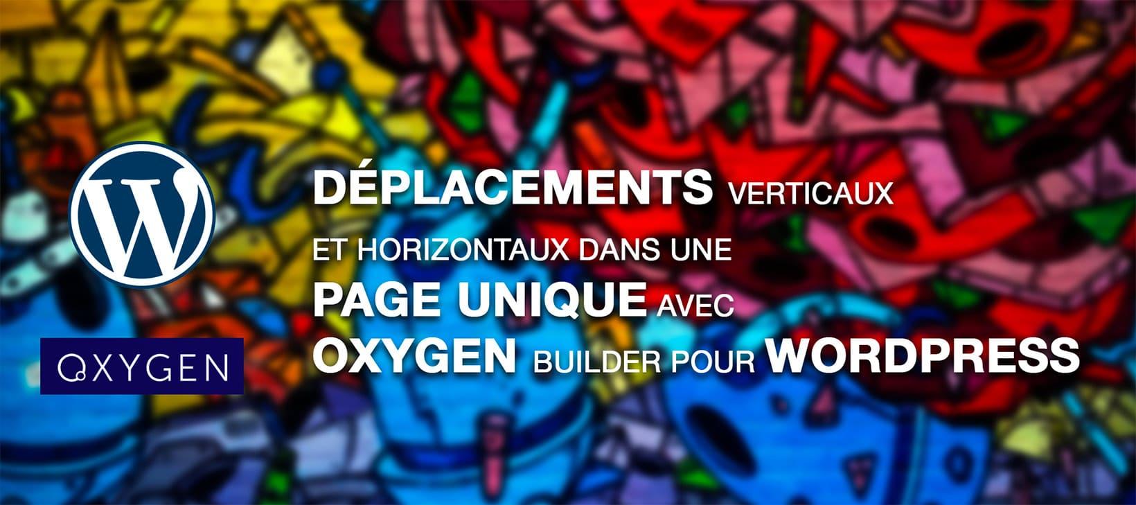 Deplacements horizontaux et verticaux dans une page unique Wordpress