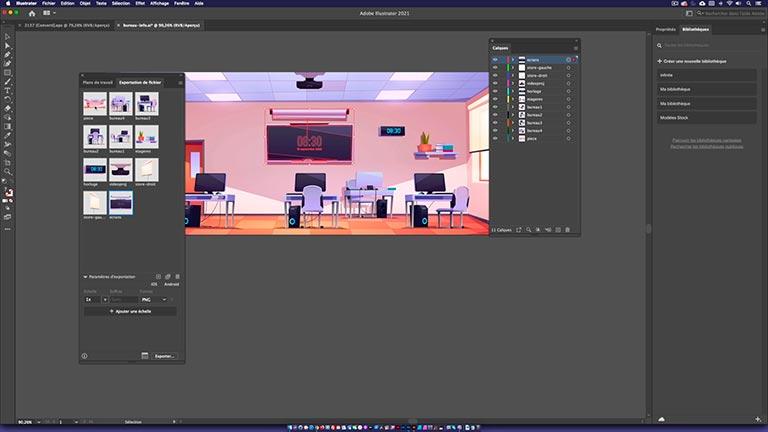 Exportation au format PNG depuis Adobe Illustrator