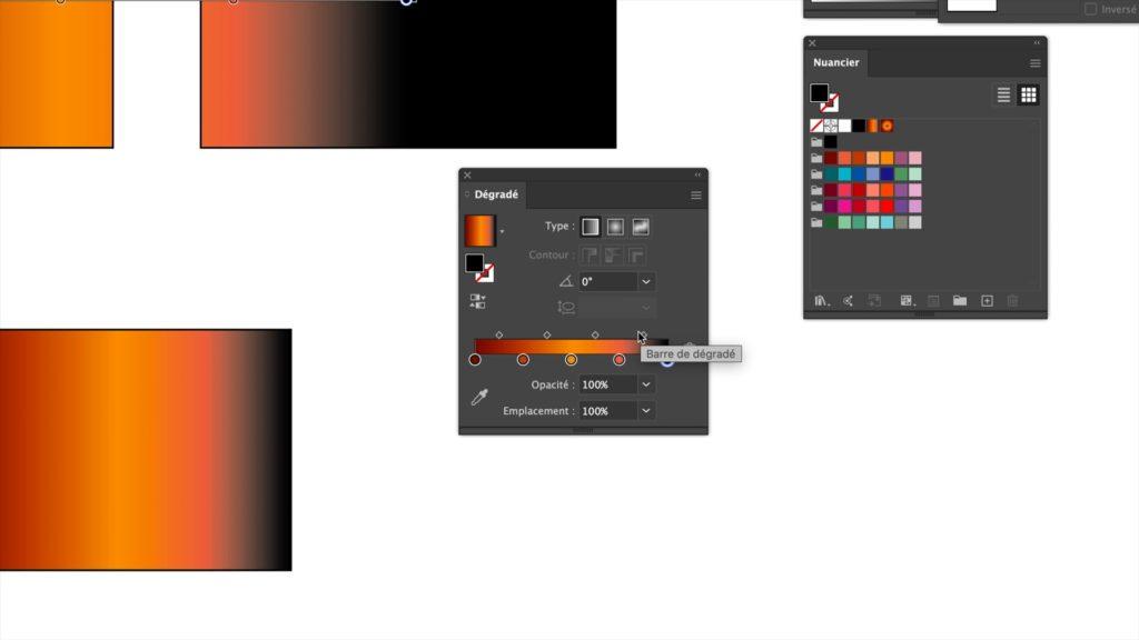 conception de dégradés de couleurs