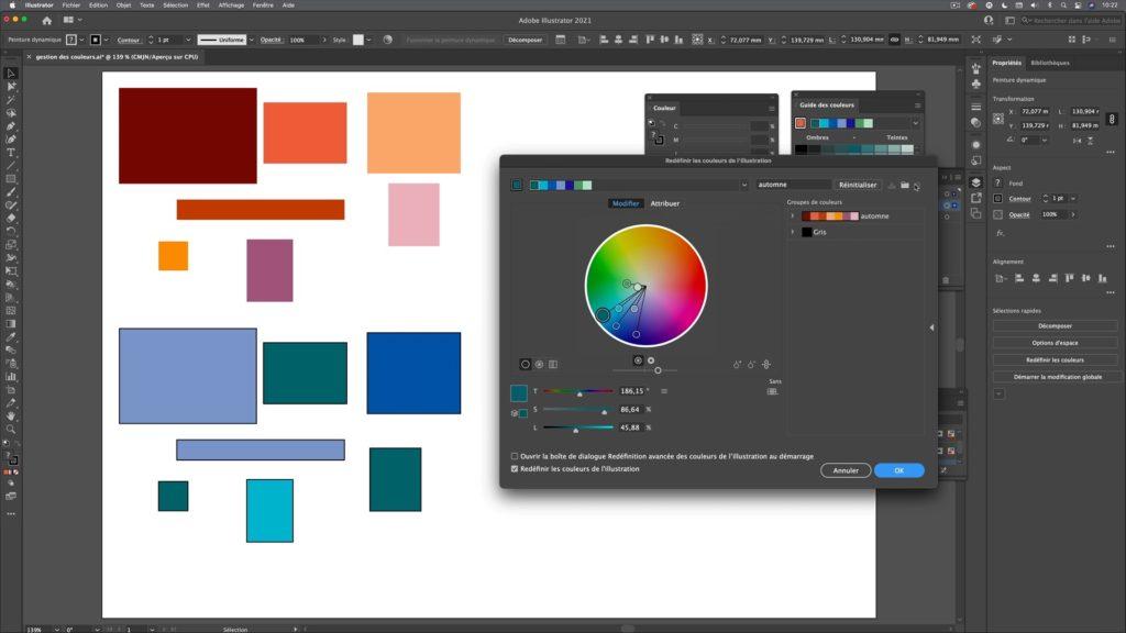 gestion des couleurs et groupes de couleurs