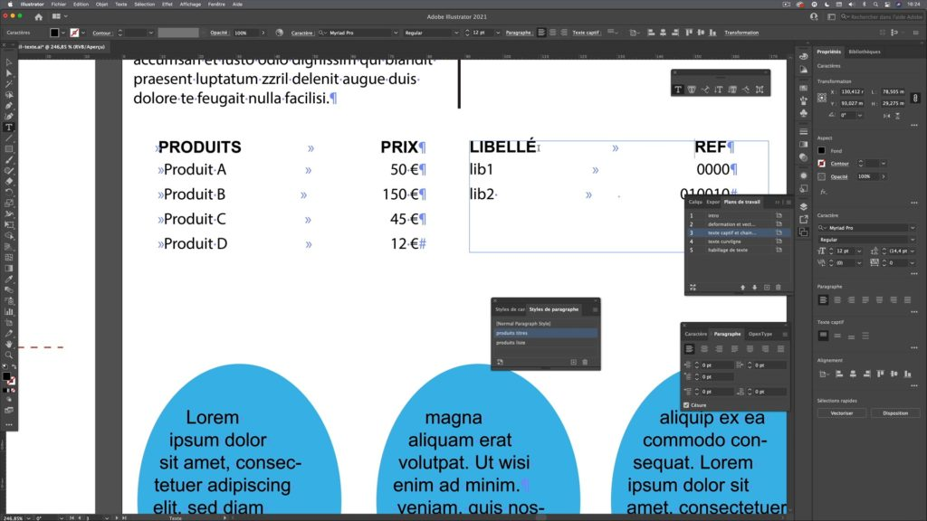outils de création et de gestion du texte